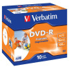 DVD-R Verbatim 4,7 GB, 16x, jewel box, printable, 10 ks