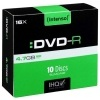 DVD-R Intenso 4,7 GB, 16x, slim case (balení 10 ks)