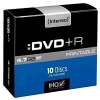 DVD+R Intenso 4,7 GB, 16x, slim case, balení 10 ks