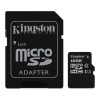 Karta micro SDHC Kingston, 16 GB, class 10 + adaptér